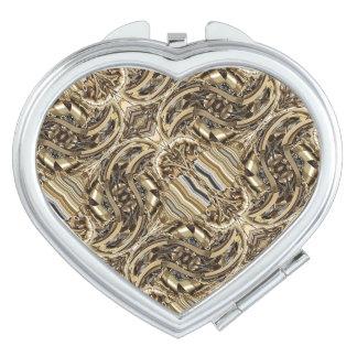 Steampunk Piston-Power Heart Makeup Mirrors