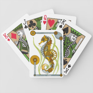Steampunk Seahorse Bicycle Playing Cards