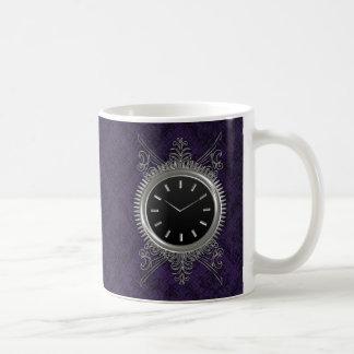 Steampunk Silver Metal Clock Coffee Mug