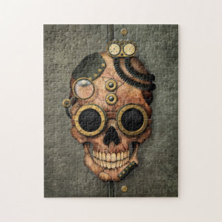 Steampunk Skull with Goggles - Steel Effect Puzzles