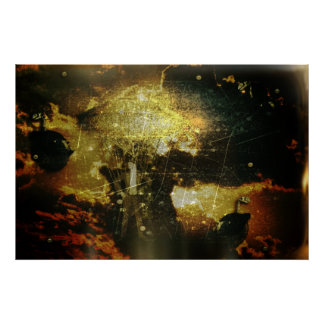 Steampunk Sky Poster