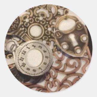 Steampunk Round Stickers