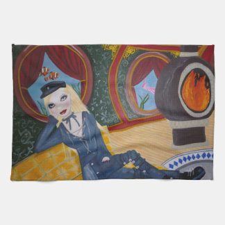 Steampunk submarine - Jules Vern inspired Towels
