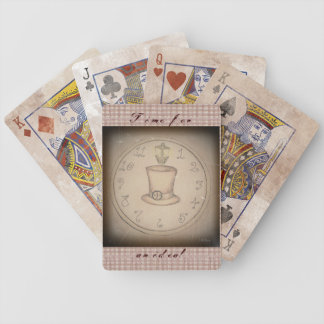 Steampunk Tophat Bicycle Playing Cards