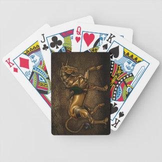 Steampunk Unicorn Damask Playing Cards