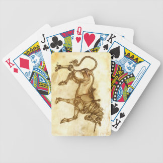 Steampunk Unicorn Sketch Playing Cards