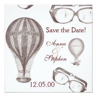 steampunk victorian Save the Date 13 Cm X 13 Cm Square Invitation Card