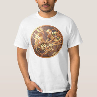 steampunk watch gears t-shirt