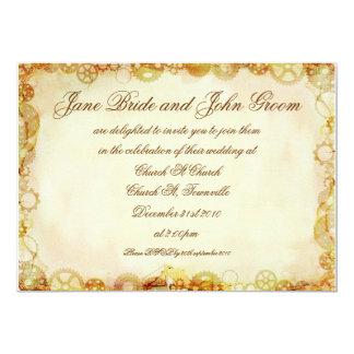 Steampunk Wedding, invitation
