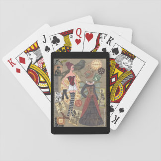 Steampunk Whimsy Paper Doll Art by Alina Kolluri Playing Cards