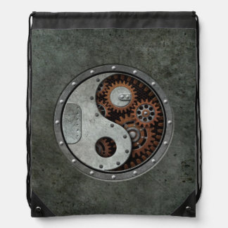 Steampunk Yin Yang Drawstring Bag