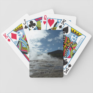 Steamy geysir geyser in Iceland Bicycle Playing Cards