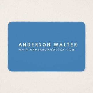 STEEL BLUE Minimalist Elegant Professional Modern Business Card