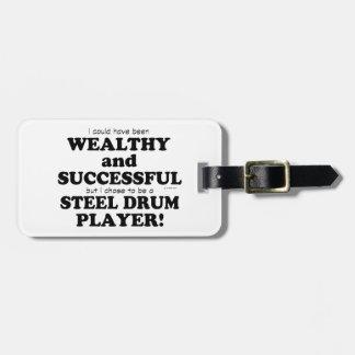 Steel Drum Wealthy & Successful Travel Bag Tag