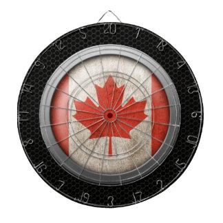 Steel Mesh Canadian Flag Disc Graphic Dartboard
