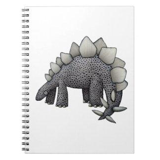 Stegosaurus Cartoon Spiral Notebook