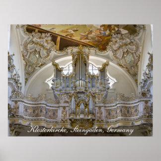 Steingaden Abbey organ poster