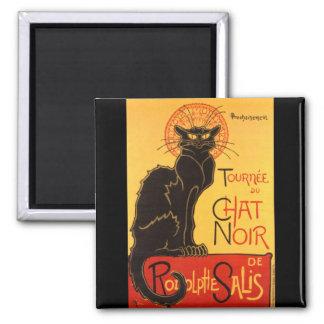 Steinlen: Chat Noir Square Magnet