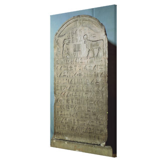 Stela commemorating the burial of the Apis Canvas Print