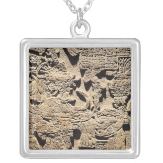 Stela depicting a High Priest and a Woman Silver Plated Necklace