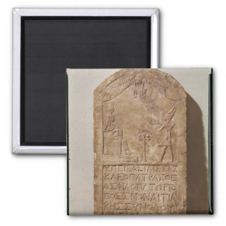 Stele dedicated to Isis depicting Cleopatra Magnet