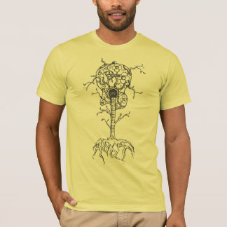 StellaRoot 2 Drawn Custom Vintage Guitar Tree T-Shirt