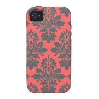StellaRoot Capulet Rose Damask Pattern Case For The iPhone 4