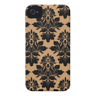 StellaRoot Capulet Vintage Damask Pattern iPhone 4 Case-Mate Cases