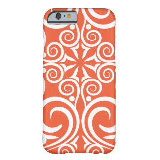 StellaRoot Damask Vintage Pattern Celtic Orange Barely There iPhone 6 Case