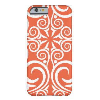 StellaRoot Damask Vintage Pattern Celtic Orange Barely There iPhone 6 Case