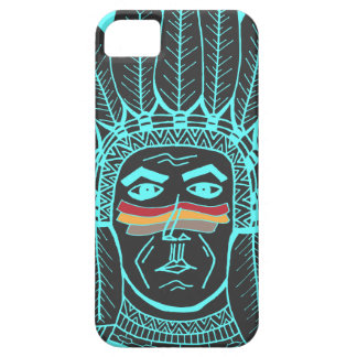 StellaRoot Drawn Turquoise War Paint Chief Indian iPhone 5 Case