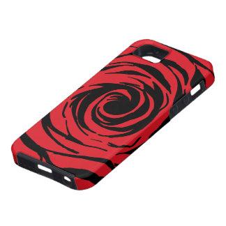 StellaRoot Zebra Rose Bud Swirl iPhone 5 Case