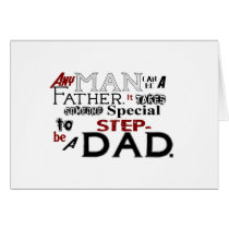 Step Dad Quote Fathers Day Greeting Card