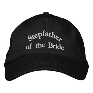 Step Father of the Bride Embroidered Hat