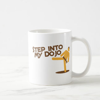 step into my dojo katate fighting design coffee mug