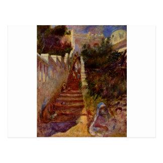Steps in Algiers by Pierre-Auguste Renoir Postcard