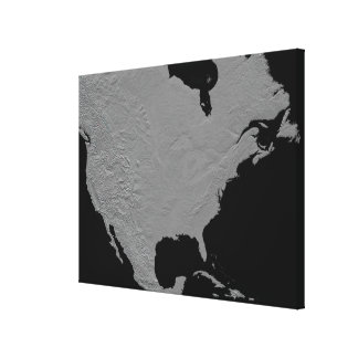 Stereoscopic view of North America Canvas Print
