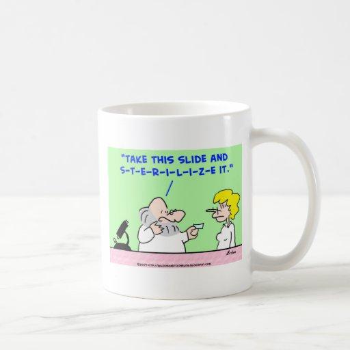 Sterilize slide laboratory scientist mug