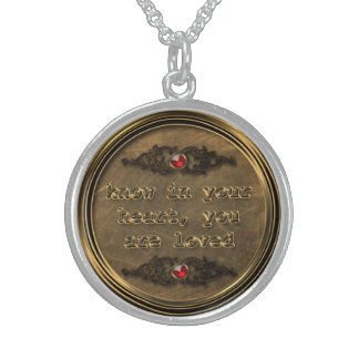 Sterling Silver Bronze Know Your Heart Necklace