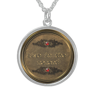 Sterling Silver Bronze Live In The Moment Necklace