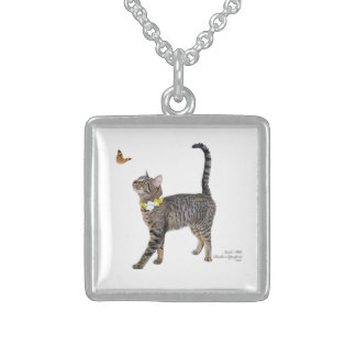 sterling silver necklace featuring Tabatha