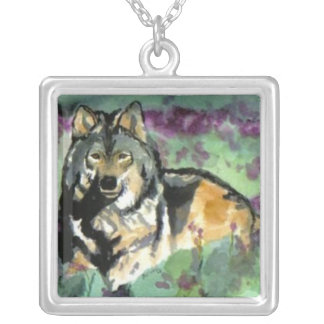 Sterling Silver Wolf Necklace