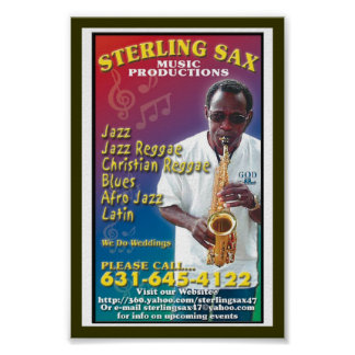 SterlingSax Music Productions Poster