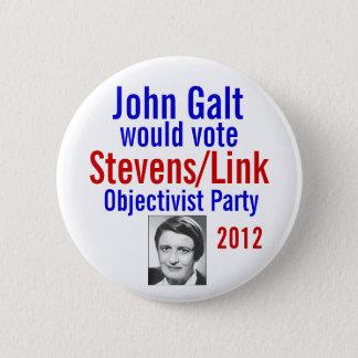 Stevens/Link Objectivist Pary 2012 6 Cm Round Badge