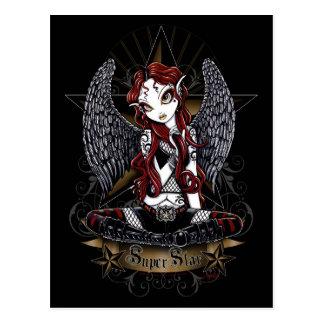 Stevie Tattooed Rock Star Angel Postcard
