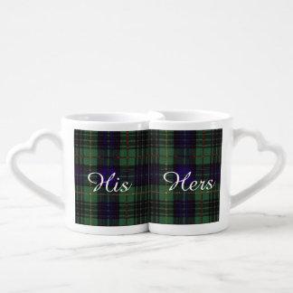 Stewart clan Hunting Plaid Scottish tartan Coffee Mug Set