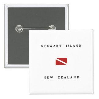 Stewart Island New Zealand Scuba Dive Flag 15 Cm Square Badge