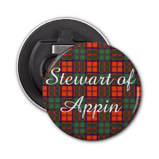 Stewart of Appin clan Plaid Scottish tartan Bottle Opener