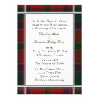 Stewart Tartan Plaid Wedding Invitation