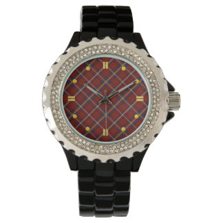 Stewart Tartan Rhinestone Watch